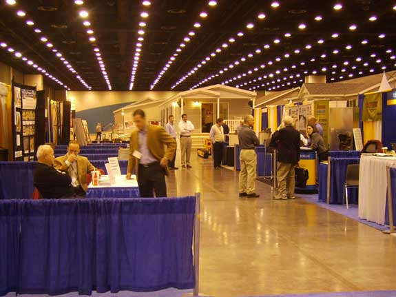 Crowds enjoying the 2011 Louisville Manufatcured Housing Show