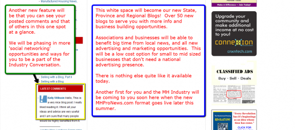 The Latest Comments on the left.  Where you see white space in the center column will be 50+ State and Regional Blogs for your local news, events, plus low cost advertising and marketing opportunities.