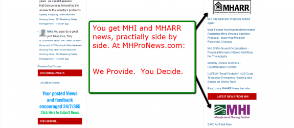 Get all your news side by side.  So at MHProNews --> We Provide.  You Decide.