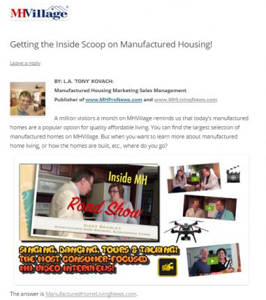 MHVillageGettingTheInsideScoop-postedMHProNews-com-CuttingEdgeblog