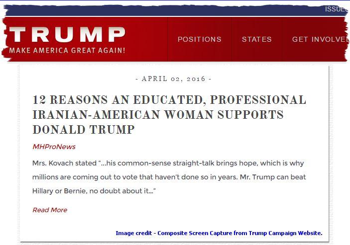 DonaldTrumpCampaignWebsite12ReasonsEducatedIranianAmericanSupportsTrumpSoheylaKovachMHProNews-com-