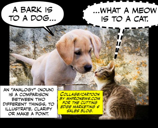 Analogy-DefinedIllustratedMeaningExplainedBarkistoDogWhatMeowIstoCatCuttingEdgeMarketingSalesMHProNews