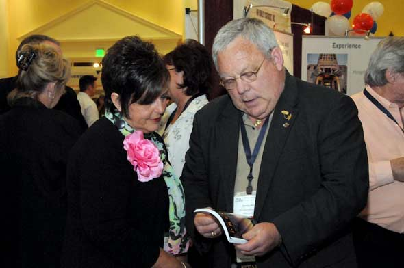 Photo of Attendee/Award winner and George Allen at MHI Congress and Expo 2010, courtesy MHI, by Lisa Stewart Photography