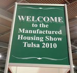 Welcome sign at The Great Soutwest Manufactured Housing Show