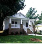 3 BR, 2BA bungalow style home blends in with it's Raleigh, NC neighborhood.