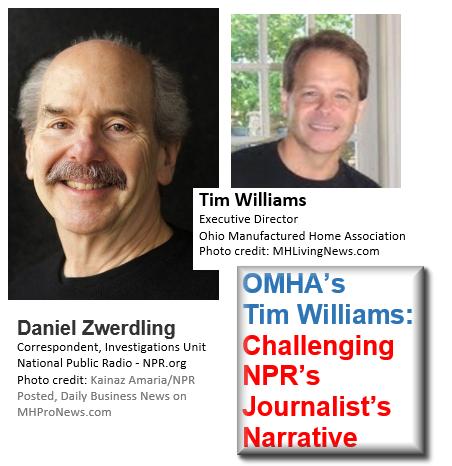 DanielZwenderlingNPR-TimWilliamsOMHA-ChallengingJournalistsNarrativeManufacturedHousingIndustryDailyBusinessNewsMHProNews