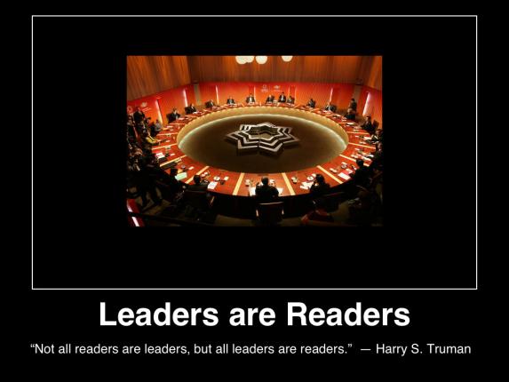 leaders are readers truman