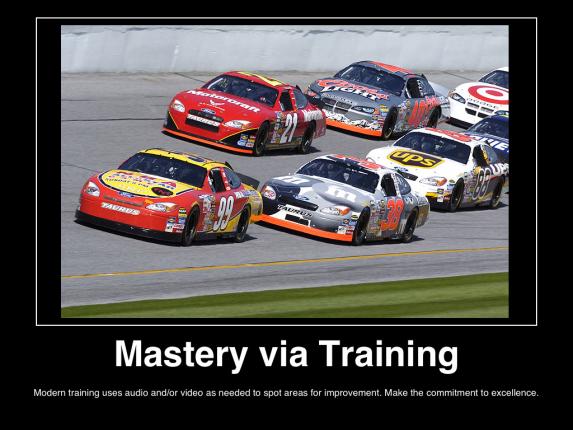 mastery-via-training-nascar