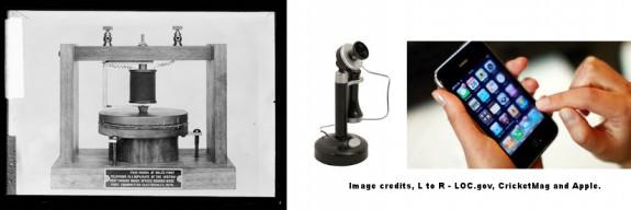 original-alexander-graham=bell-phone-to-smart-phone=loc-cricket=apple-credits=postedmhpronews-com-