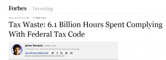 Forbes=credit=taxWaste6.1BillionManHoursComplingFederalTaxCode-JanetNovack-postedMastheadBlog-MHProNews-com