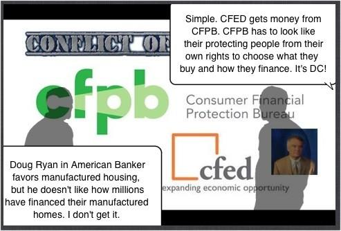 AmericanBankerDougRyanCFPB-CFED-ManufacturedHousingPoliticalCartoon-postedMastheadBlog-MHProNews-com-