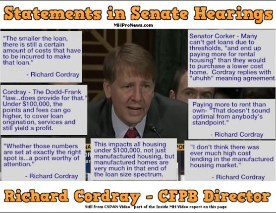 RichardCordrayCFPB-ManufacturedHousingRegulationsCSPANstill-InsideMHvideoPostedMHProNews-com-