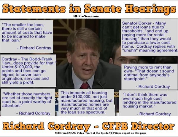 RichardCordrayCFPB-ManufacturedHousingRegulationsCSPANstill-InsideMHvideoPostedMHProNews-com-