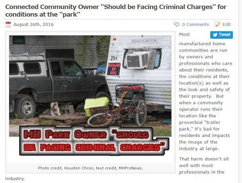 ConnectedCommunityOwnerShouldFaceCriminalChargesDailyBusinessNews-MHProNews-