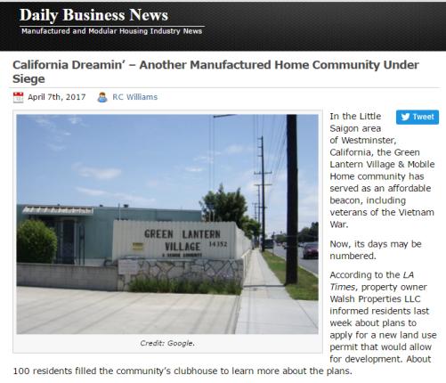 CaliforniaDreaminAnotherManufacturedHomeCommunityUnderSeigeMastheadMHProNews