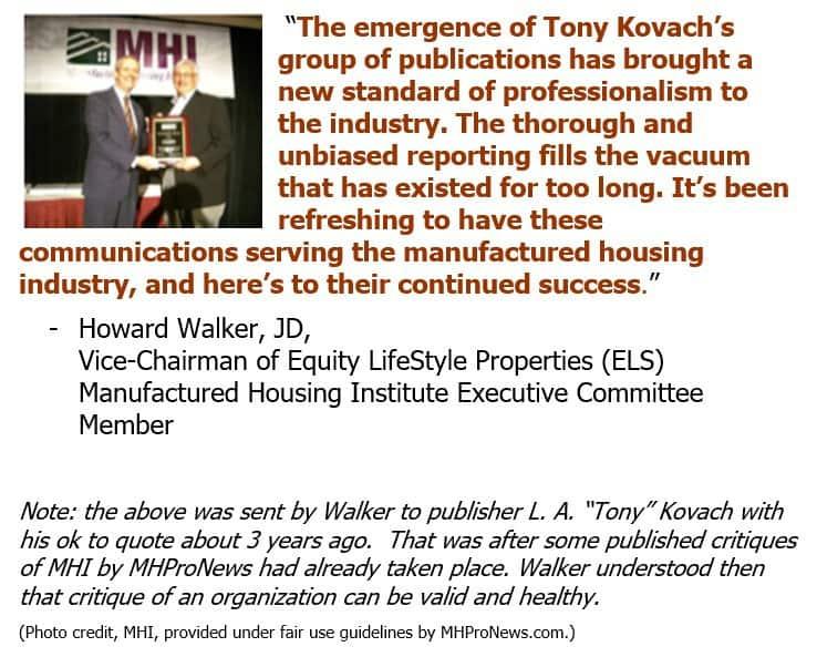 HowardWalkerJDViceChairEquityLifestylePropELS-ManufacturedHousingInstituteLogoViceChair-postedMastheadManufacturedHomeIndustryResearcMHProNews