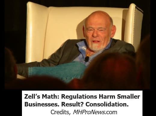 SamZellEquityLifestylePropertiesChairmanRegulationsHarmSmallerBusinessResultConsolidationMHProNews