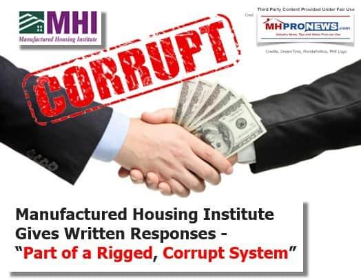MHICorruptRiggedSystemDailyBusinessNewsManufacturedHousingIndustryMHProNews