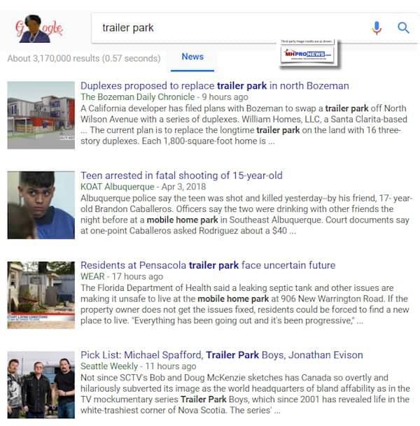 TrailerParkGoogleNews442018ManufacturedHousingIndustryDailyBusinessNewsMHProNews
