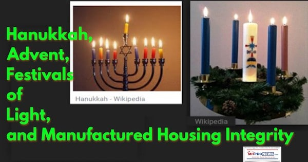 Hanukkah, Advent, Festivals of Light, and Celebrating Manufactured Housing Integrity
