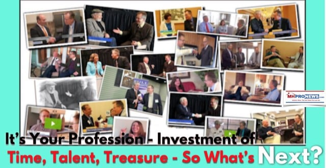 It's Your Profession - Investment of Time, Talent, Treasure - So What's Next?