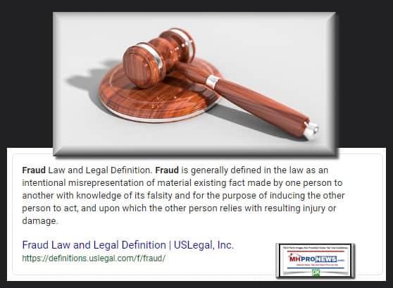 FraudLegalDefinitionManufacturedHousingIndustryDailyBusinessNewsMHProNews