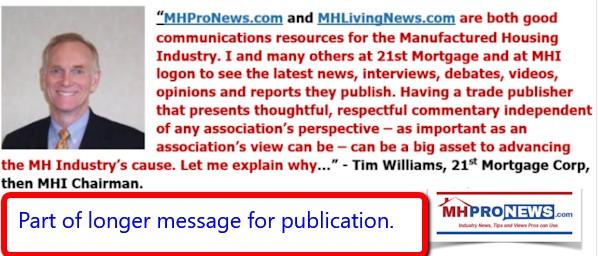 TimWilliams21stMortgagePublicationDailyBusinessNewsMHProNewsMHLivingNews1