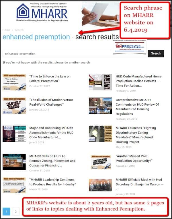 EnhancedPreemptionManufacturedHousingAssociationForRegulatoryReformLogoMastheadMHProNews2019-06-04_1607