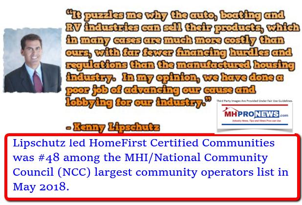 KennyLipschutzHomeFirstCertifiedCommunitiesMHI-NCCmemberMHProNews