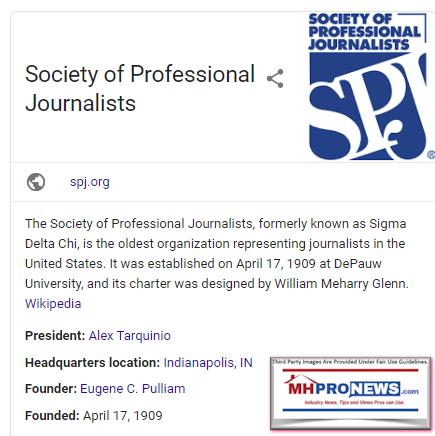 SocietyOfProfessionalJournalistsSPJWikiManufacturedHomeProNews
