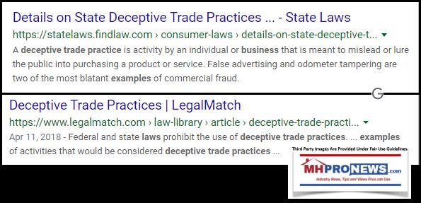 DeceptiveTradePracticesLegalDefinitionsWikiGoogleManufacturedHousingMHProNews