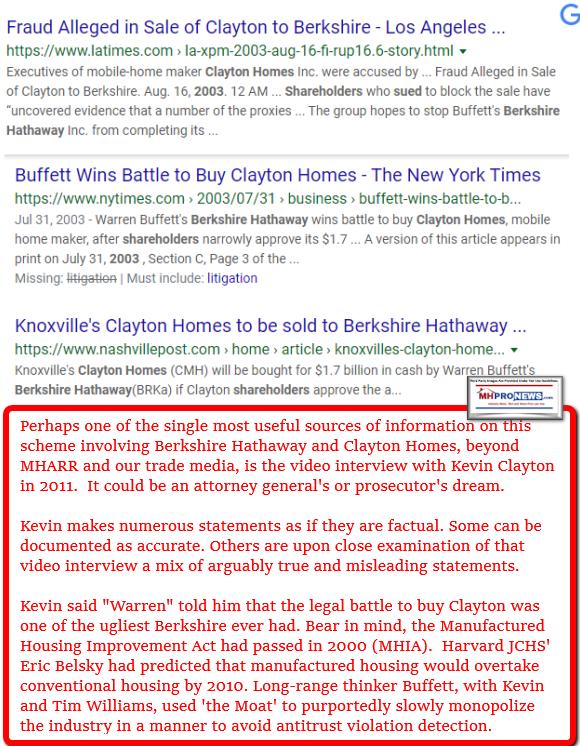 FraudClaytonHomesBerkshireHathawayAcquisitionsManufacturedHomeProNews