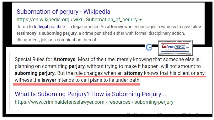 SuborningSubornationPerjuryDefinitionWikiManufacturedHomeProNews