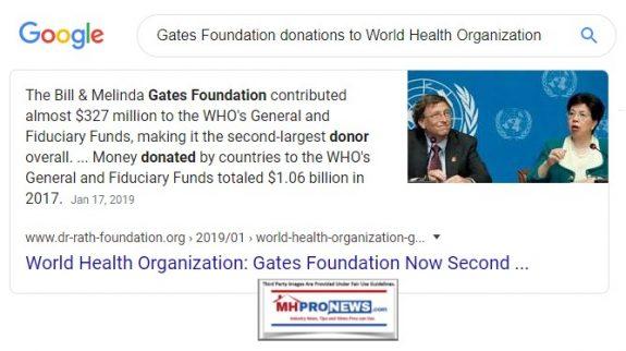 GatesFoundationDonationstoWorldHealthOrganizationWHOMastheadManufacturedHomeProNews