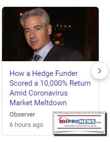 HowHedgeFunderScored10000PercentReturnCovid10MarketMeltdownObserverManufacturedHomeProNews