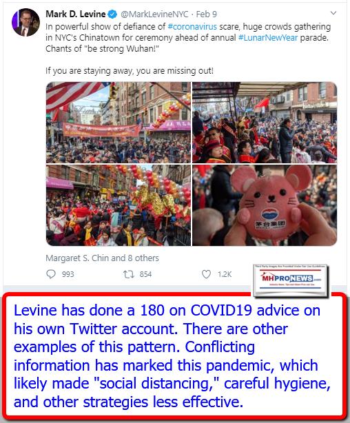 MarkDLevineTwitterOnFeb9-2020COVID19CoronavirusQuoteResponseManufacturedHomeProNews
