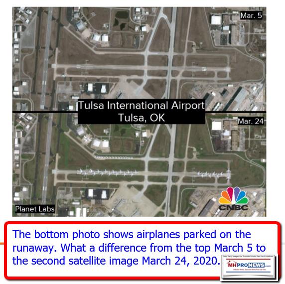 SatPhotosTulsaInternationalAirportMarch242020AirplanesParkedonRunwaysManufacturedHomeProNews