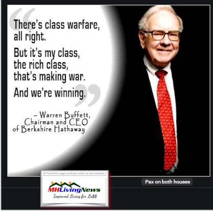 WarrenBuffettClassWarfareAllRightMyClassRichClassMakingWarWereWinningQuoteManufacturedHomeLivingNEws