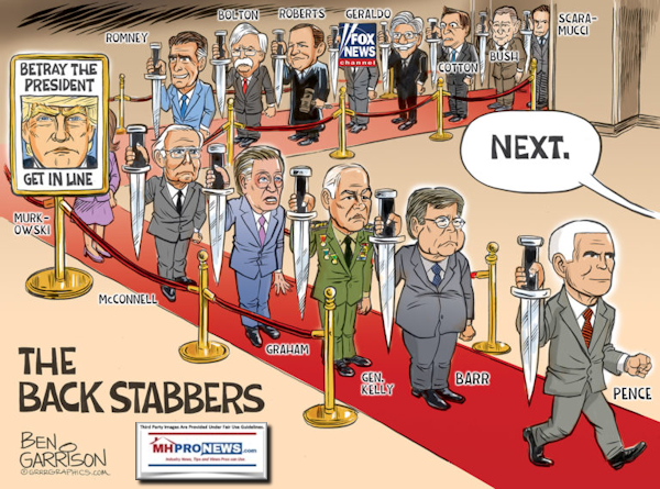 BetrayThePresidentGetInLineBenGarrisonPoliticalCartoonGrrr8GraphicsMHProNews