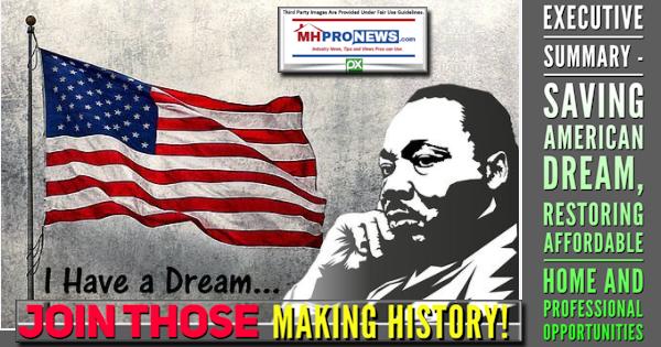 JoinThoseMakingHistory!ExecutiveSummarySavingAmericanDreamRestoringAffordableHomeProfessionalOpportunitiesMastMHProNews