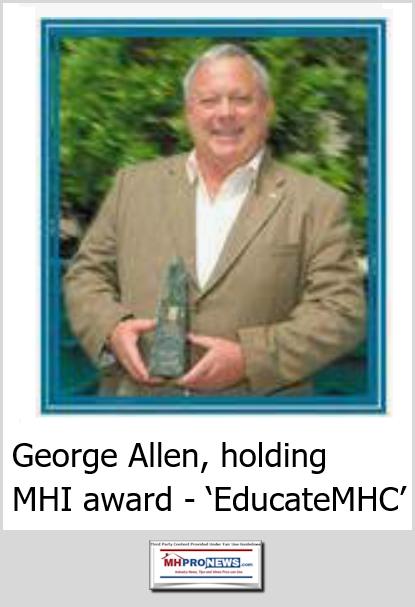 GeorgeFAllenCommunityInvestorEducateMHC-ManufacturedHousingInstituteMHIawardwinnerMHProNews
