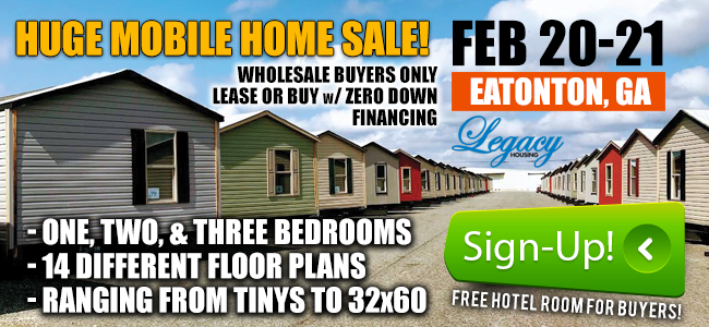 Legacy Home Sale -Feb 20-21