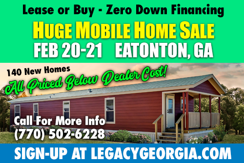 Legacy Housings Huge Home Sale