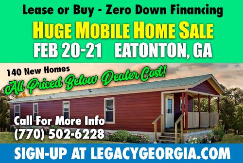 Legacy Housings Huge Home Sale