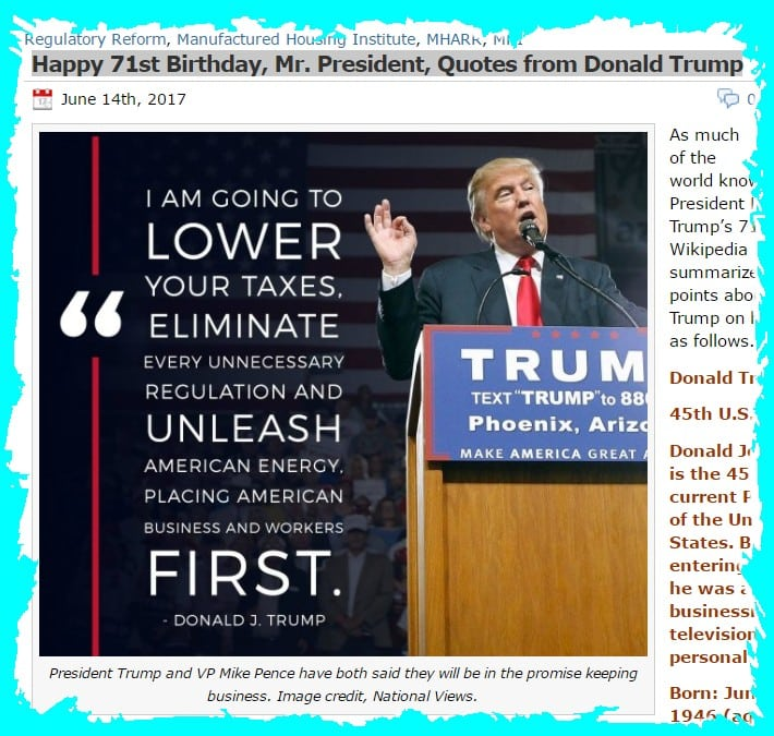 Happy71BirthdayPresidentDonaldTrumpQuotesDailyBusinessNewsMHProNews