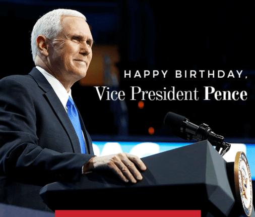 HappyBirthdayVicePresidentPenceManufacturedHousingIndustryDailyBusinessNewsMHProNEws