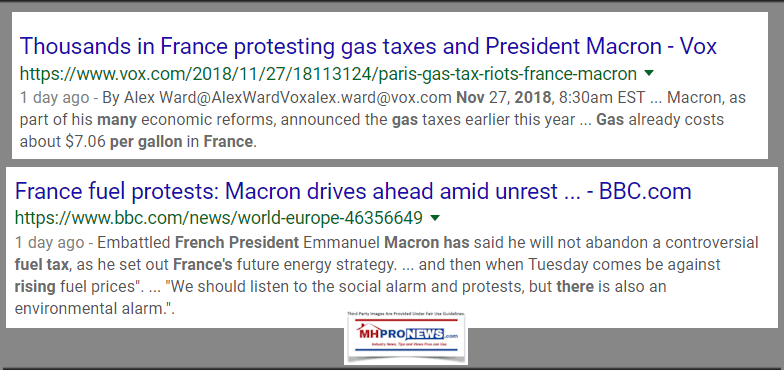 FranceFuelProtestsBBCNov2018DailyBusinessNewsMHProNews