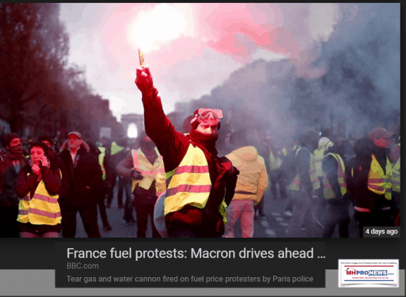 FranceFuelProtestsBBCPhotoManufacturedHousingIndustryDailyBusinessNewsMHproNews-575x420