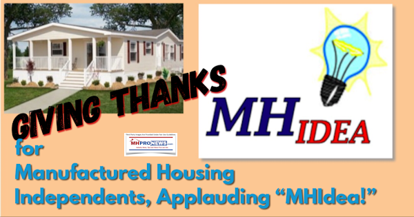 GivingThanksForManufacturedHousingIndependentsAppluadingMHIdea