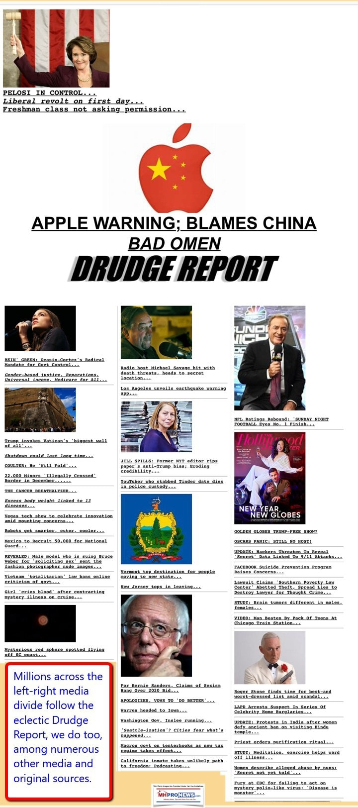 DrudgeReport132019DailyBusinessNewsMHproNews